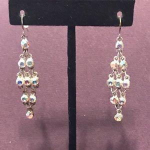 Silver tone blingy earrings. 2/$10 Sale